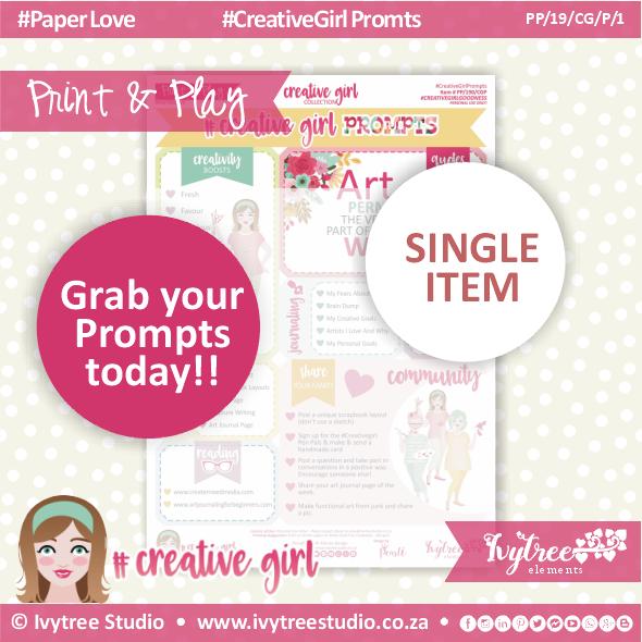 19/CG/P/1 - #Creativegirl PROMPTS & Bonus Prompt Labels - Prompts 1