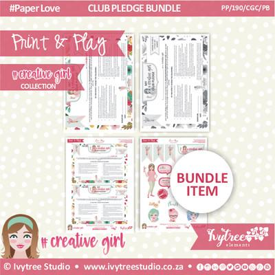PP/190/CGC/PB - #CreativegirlCLUB - Pledge Bundle