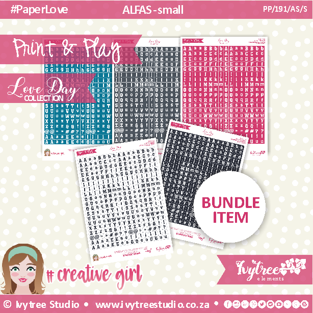 PP/191/AS/S - Print&Play - CUTE CUTS - Alfas/Small - Love Day Collection