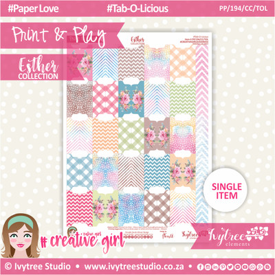 PP/194/CC/TOL - Print&Play - CUTE CUTS - Tab-O-Licious - Esther Collection
