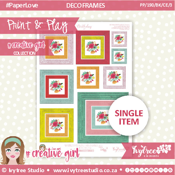 PP/190/BK/CE/4 - Print&Play - BIRTHDAY KIT - CUTE CUTS - Creative Elements (4)  - Creative Girl Collection