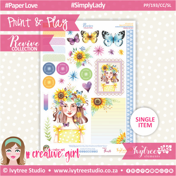 PP/193/CC/SL - Print&Play - CUTE CUTS - Simply Lady - Revive Collection