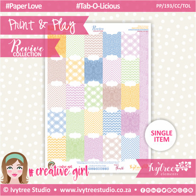 PP/193/CC/TOL - Print&Play - CUTE CUTS - Tab-O-Licious - Revive Collection