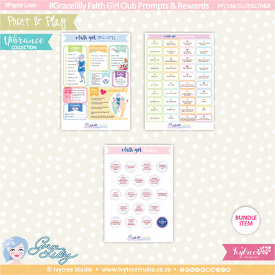 PP/196/GL/FGC/P&R - Print&Play - Gracelilly - Faith Girl Club Prompts & Rewards - Vibrance Collection