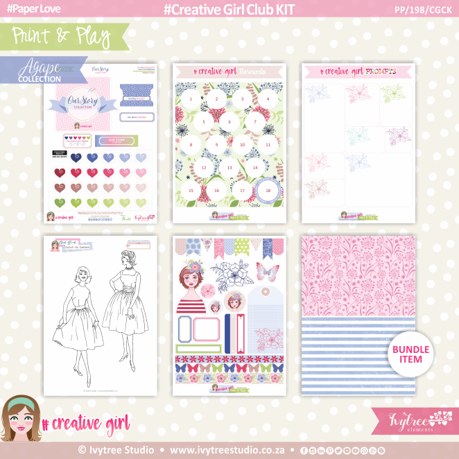 PP/198/CGCK - Print&Play - Creative Girl Club KIT - OurStory Collection