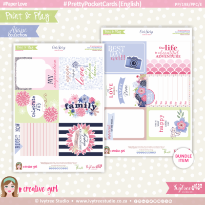 PP/198/PPC - Print&Play - PRETTY POCKET CARDS - (Eng/Afr) - OurStory Collection