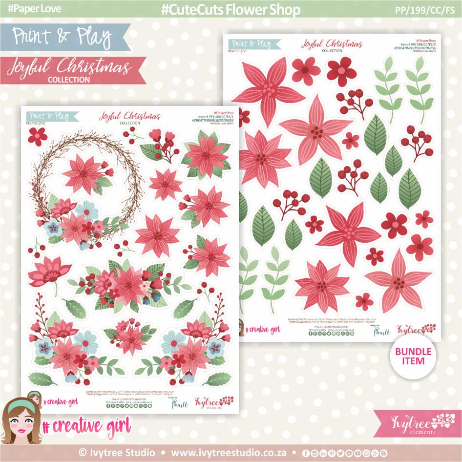 PP/199/CC/FS - Print&Play - CUTE CUTS - Flower Shop - Joyful Christmas Collection