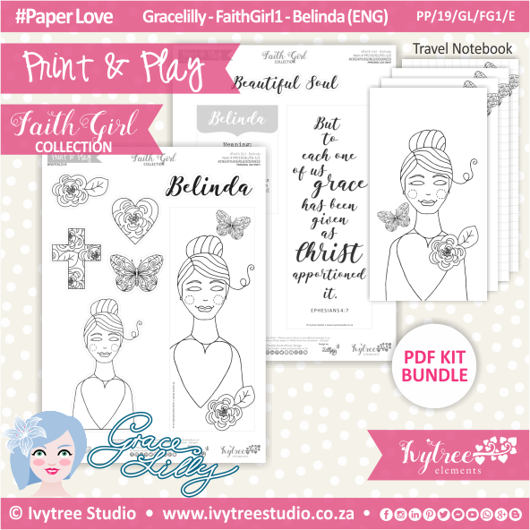 PP 19 GL FG1 KIT - Print&Play - #FaithGirl KIT - Belinda