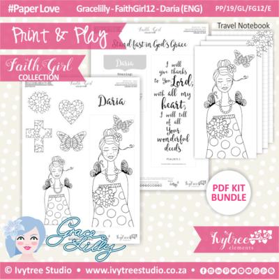 PP 19 GL FG12 KIT - Print&Play - #FaithGirl KIT - Daria