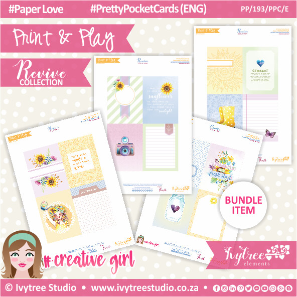 PP/193/PPC - Print&Play - PRETTY POCKET CARDS - Variety (Eng/Afr) - Revive Collection