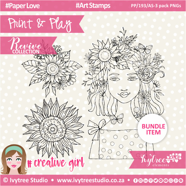 PP/193/AS-3pk - Print&Play - Art Stamps (3 pack PNG's) - Revive Collection