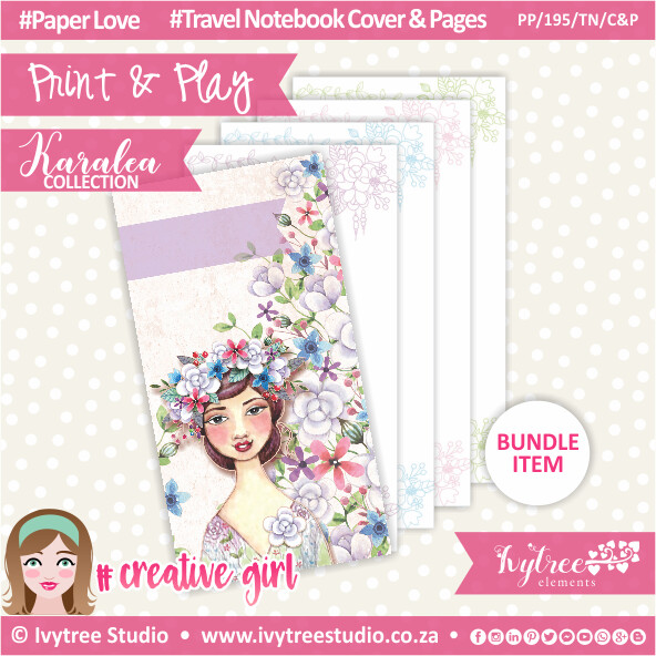PP/195/TN/C&P - Print&Play - Travel Notebook - Cover&Pages - Karalea Collection