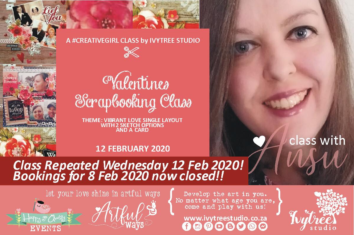 Creativegirl Scrapbooking Class with Ansu - Vibrant Love Valentines Scrapbooking Class - Repeated 12 February 2020 15:00PM-18:00PM