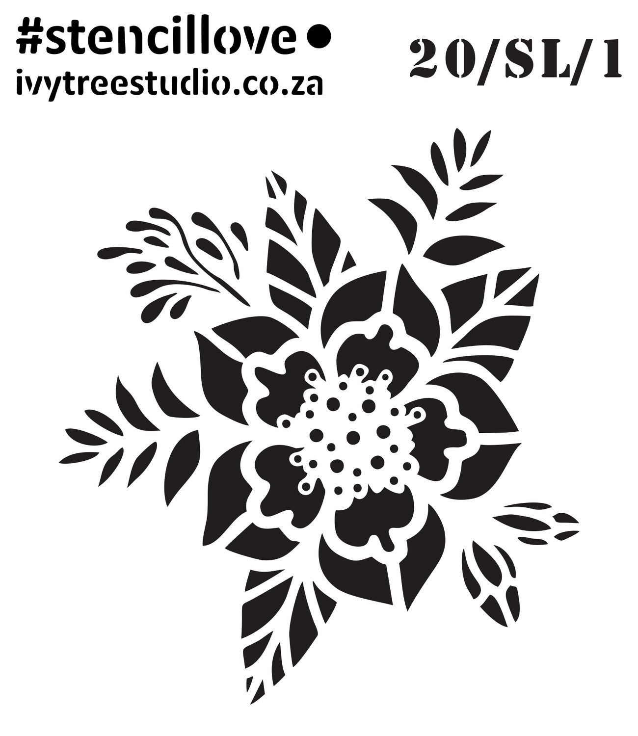 AW/SL/20 - #StencilLove - Ivytree Studio 2020 Stencils (Pre-Order) See Gallery and Options Menu (New designs added) - Place your order before 7 August 2020! - Physical product - needs shipping