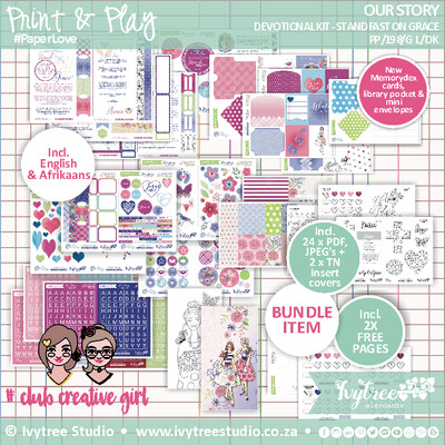 NEW Print&Play - Our Story Collection - Gracelilly Devotional Kit (Eng+Afr)