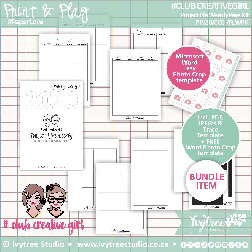 #ClubCreativeGirl Project Life Weekly 2020 Kit