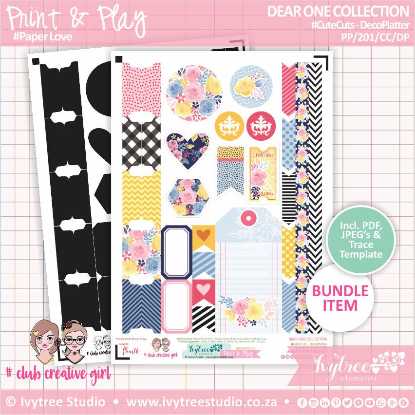 PP/201/CC/DP - Print&Play - CUTECUTS - Deco Platter - Dear One Collection