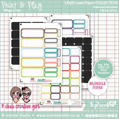 PP/20/LLP/LL - #Print&Play - LillyB Loves Paper Collection - Rainbow Grid Labels
