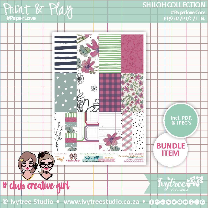 PP/202/PL - Print&Play - SHILOH COLLECTION - Paperlove
