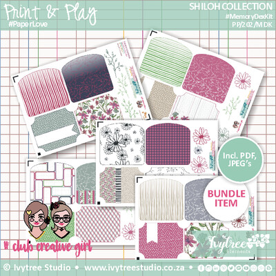 PP/202/MDK - Print&Play - SHILOH COLLECTION - Memory Dex Kit (5 page kit) NEW!