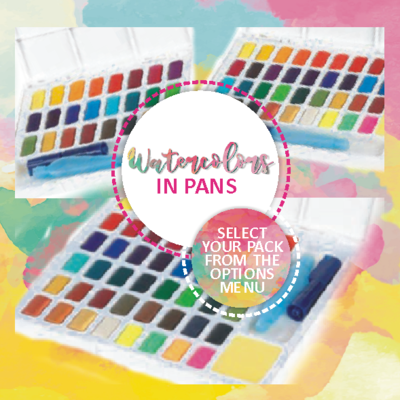 Faber Castell Watercolors in Pans - Select your pack from the options menu - PRE-ORDER