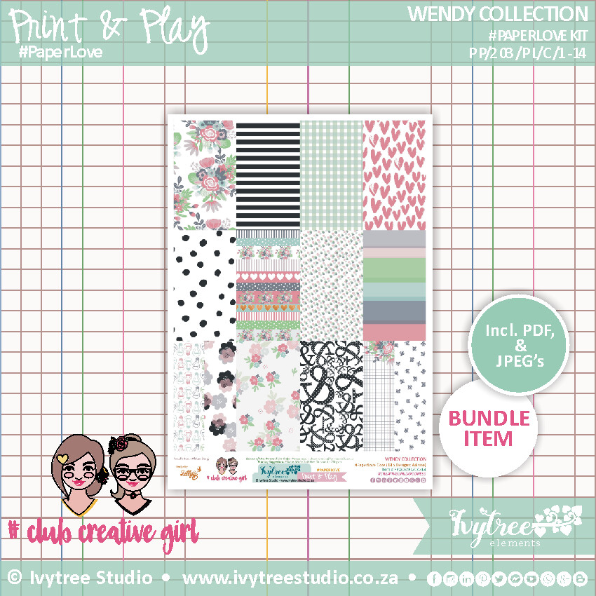 #PP/203/PL - PRINT&PLAY - Wendy Collection - Paperlove Kit
