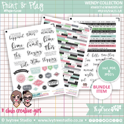 #PP/203/SS - PRINT&PLAY - Wendy Collection - Sweet Sentiments (Incl. Eng.&Afr. Elements)