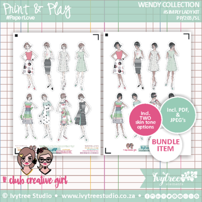 #PP/203/SLV - PRINT&PLAY - Wendy Collection - Simply Lady Vintage
