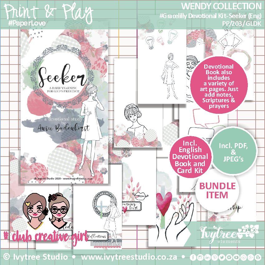 PP/203/GLDK - Print&Play - Wendy Collection - Gracelilly Devotional Kit (Eng) - Seeker NEW