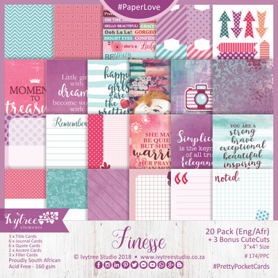 AW/174/PPC - Finesse Collection - Pretty Pocket Cards (Eng/Afr) - PRE-ORDER -please read details in the description