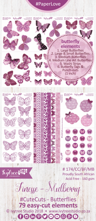 AW/174/B - Finesse Collection - CUTE CUTS - Butterflies - PRE-ORDER -please read details in the description