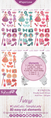 AW/174/SLL - Finesse Collection - CUTE CUTS - Simply Lady - PRE-ORDER -please read details in the description
