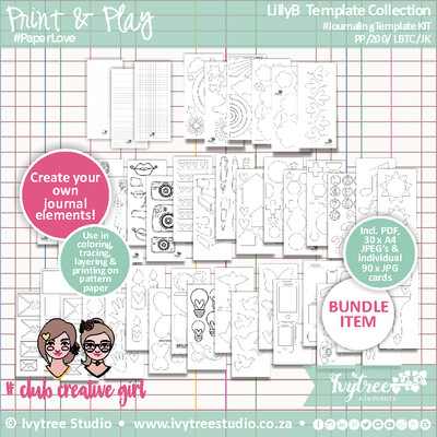 PP/200/LBTC/JK - LillyB Template Collection - Journaling Kit (ON PROMOTION)