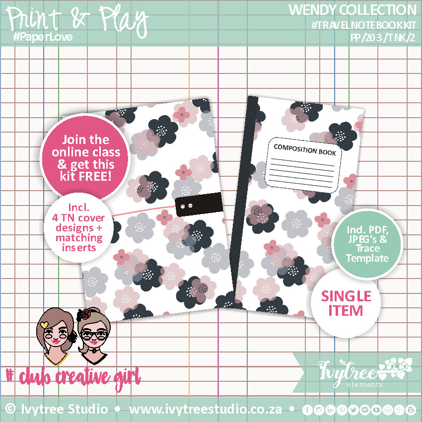 PP/203/TNK/2 - Wendy Collection - Travel Notebook Kit No 2 - See description for details! (September 2020 NEW Release!)