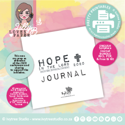 Hope Scripture Journal with FREE Bible Journaling Kit with Updated SA schedule**