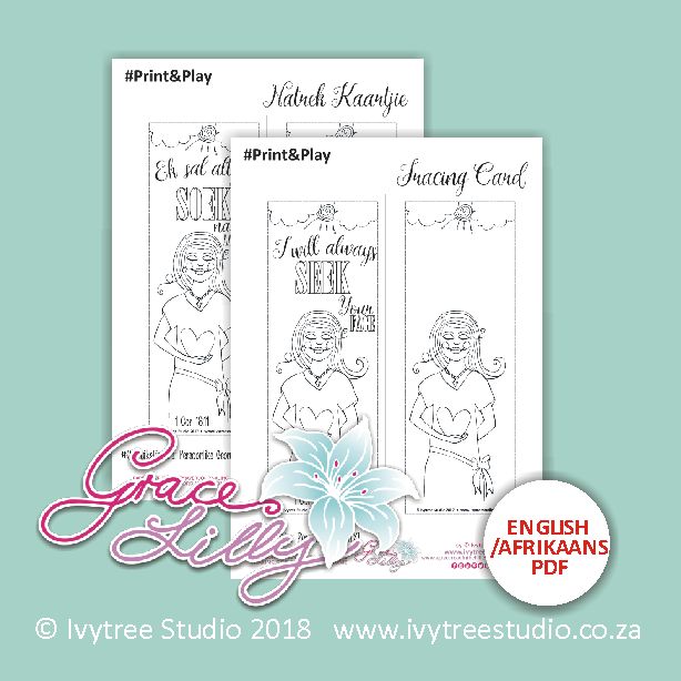 """""""I will always SEEK Your FACE"""" Tracing Card (Printable PDF; Afr+Eng version included) PRING&PLAY"""