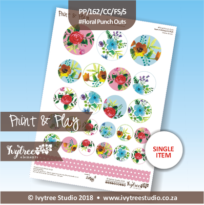 PP/162/CC/FS/5 - Print&Play Heart Friends - Cute Cuts - FLOWER SHOP - Floral Punch Outs