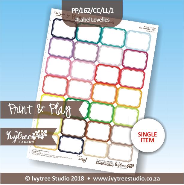 PP/162/CC/LL - Print&Play Heart Friends - Cute Cuts - Label Lovelies