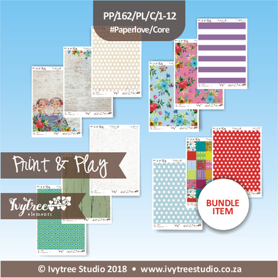PP/162/PL/C - Print&Play - Heart Friends Paperlove Core bundle - (A4 x 12)