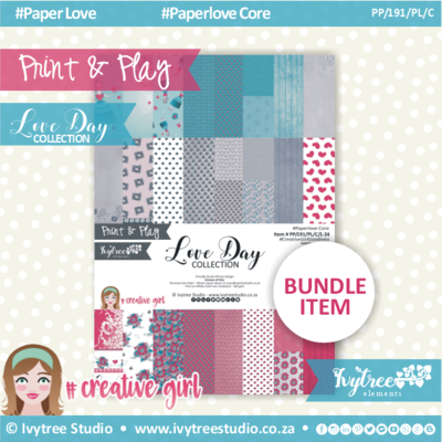 PP/191/PL/C - Print&Play - Love Day Paperlove Core bundle - (A4 x 24)