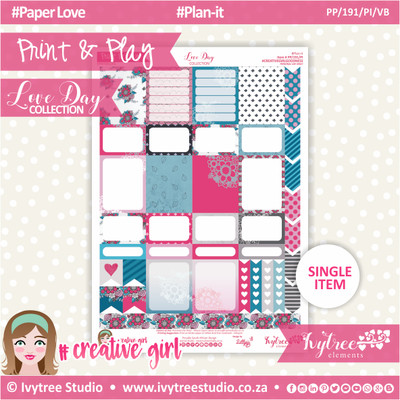 PP/191/PI/VB - Print&Play - PLAN-IT - Variety Boxes  - Love Day Collection