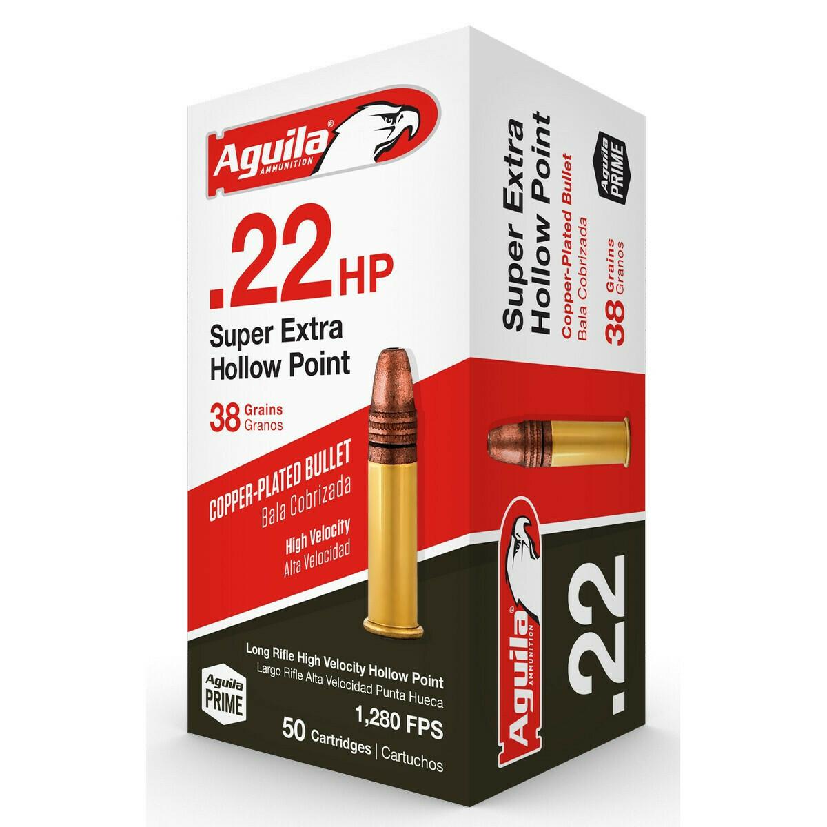 Aguila .22 Hollow Point (38gr) - 2,000rd Case