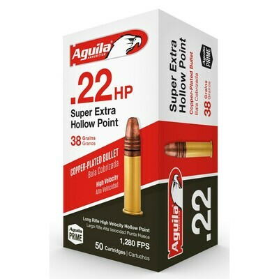 Aguila .22 Hollow Point (38gr) - 2,000rd Case