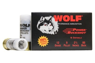 Wolf Power 00 Buckshot (12ga) - 120rd Case