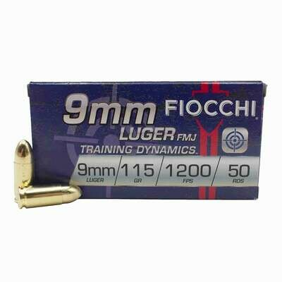 Fiocchi 9mm Luger FMJ (115gr) - Case of 1000rds