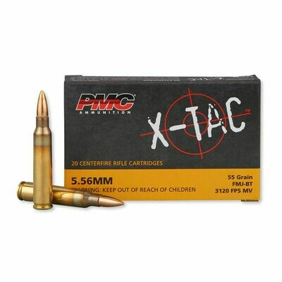 PMC 5.56x45mm NATO X-Tac FMJ (55gr) - Case of 1000rds