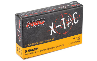 PMC 5.56x45mm NATO X-Tac LAP (62gr) - Case of 1000rds