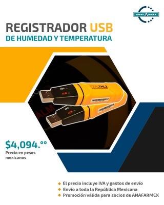 Registrador USB de Humedad y Temperatura