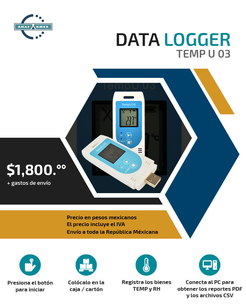 Registrador de Temperatura y Humedad Relativa Multi-uso
