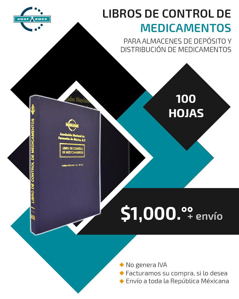 Libro del Control de Medicamentos para Almacenes (100 hojas)